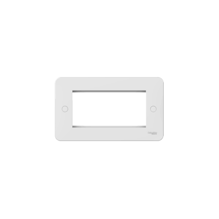 Schneider Lisse GGBL8080 2 Gang 4 Module White Euro Plate