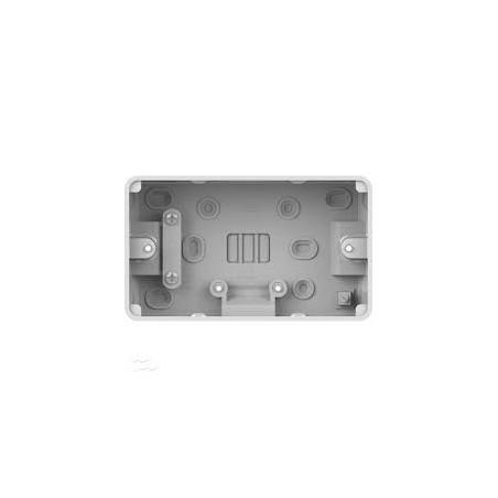 Schneider Lisse GGBL9247 2 Gang 47mm White Pattress