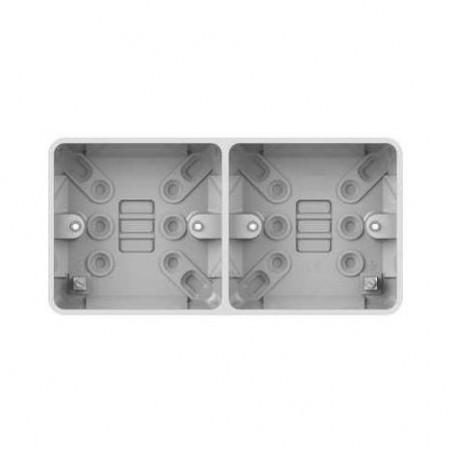 Schneider Lisse GGBL9D25 2 Gang 25mm Dual White Pattress