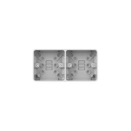 Schneider Lisse GGBL9D25S 2 Gang 25mm Dual White Pattress