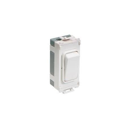 Schneider GUG101W 10A 1 Way White Grid Switch