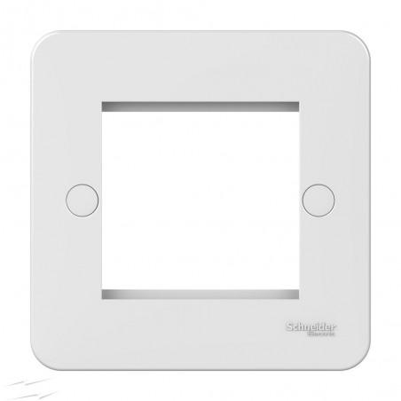 Schneider Lisse GGBL8060 1 Gang 2 Module White Euro Plate