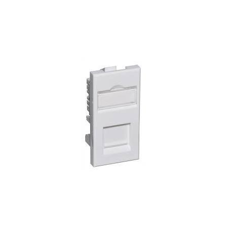 Connectix 008-000-000-20 Cat5e UTP RJ45 Module Euromod Size 50x25mm White