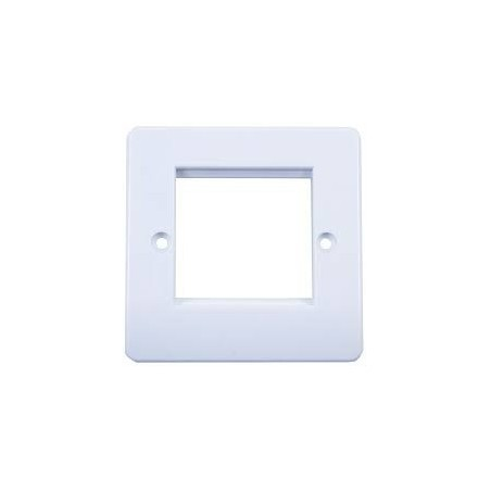 Connectix 008-001-003-52 1 Gang 2 Module White Office Style Euro Faceplate Round Edges