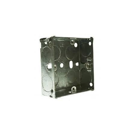 Deligo MSB125 1 Gang 25mm Metal Flush Back Box