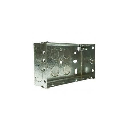 Deligo MSB225 2 Gang 25mm Metal Flush Back Box