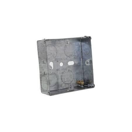 Deta DB164 1 Gang 35mm Metal Flush Box