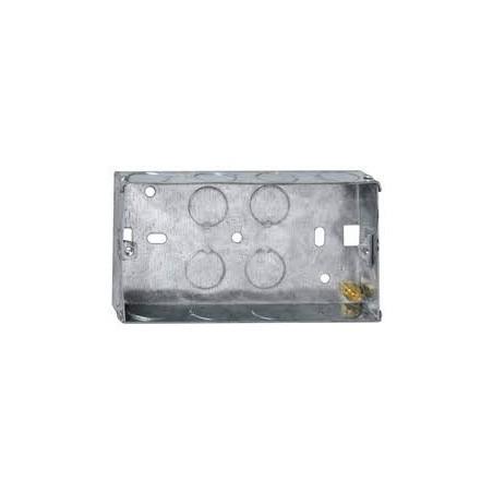 Deta DB165 2 Gang 35mm Metal Flush Box