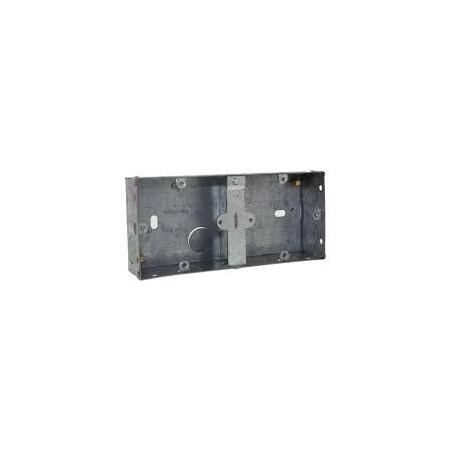 Deligo DGB25 2 Gang (1+1G) 25mm Dual Metal Flush Box