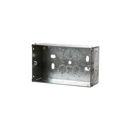 Deta DB168 2 Gang 47mm Metal Flush Box