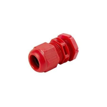 Wiska 10100614 GLP20+ 20mm Red Dome Top Cable Gland With Locknuts Sprint GLP20 IP68 Pack of 10 (6mm-14mm)