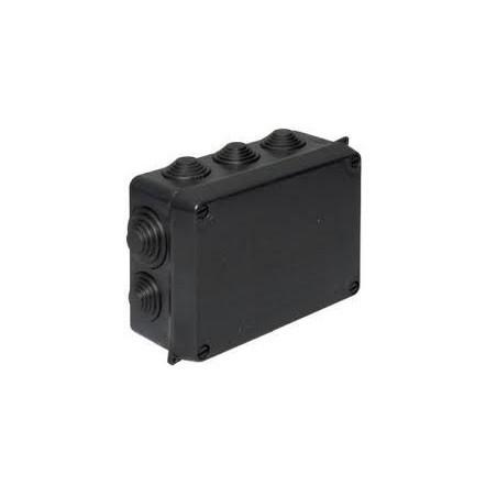 WISKA 715 WIB1/E 110x110x60mm IP55 Black Surface Adaptable Box