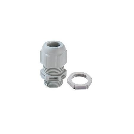 Wiska 99704 25mm Grey Dome Top Cable Gland With Locknuts Sprint GLP25 IP68 Pack of 10 (9mm-17mm)