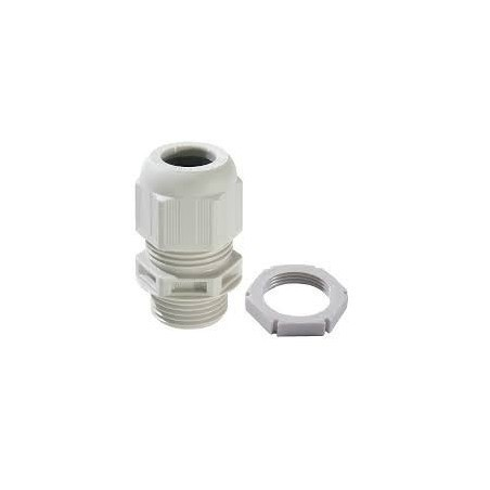 Wiska 99706 25mm White Dome Top Cable Gland With Locknuts Sprint GLP25 IP68 Pack of 10 (9mm-17mm)