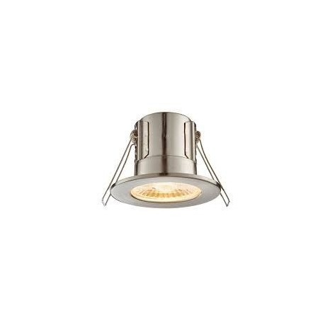 Saxby 73786 4W Warm White Fire Rated Satin Nickel Downlight