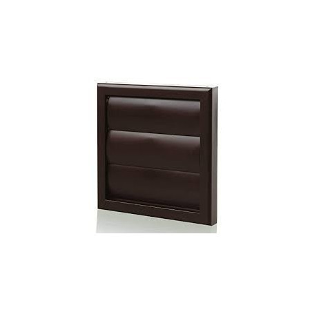 """Blauberg DECOR185X185/150GBROWN 150mm/6"""" Brown Gravity Grille/Outside Vent"""