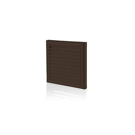 """Blauberg DECOR185X185/150SBROWN 150mm/6"""" Brown Fixed Louvred Grille/Outside Vent"""