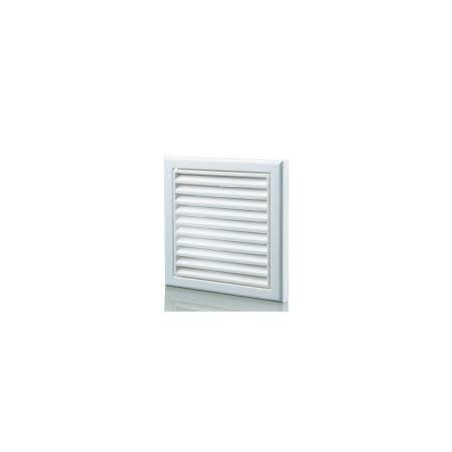 "Blauberg DECOR155X155/100SWHITE 100mm/4"" White Fixed Louvred Grille/Outside Vent"