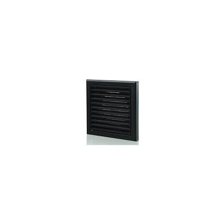 "Blauberg DECOR185X185/150SBLACK 150mm/6"" Black Fixed Louvred Grille/Outside Vent"