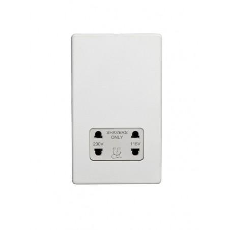 Eurolite ECWSHSW Screwless Flatplate White Shaver Socket with White Interior