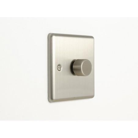 Eurolite EN1DLEDSS 1 Gang 2 Way LED/400W Satin Stainless Steel/Brushed Chrome Enhance Dimmer Switch