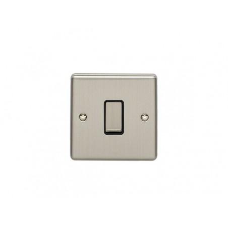 Eurolite EN1SWSSB 10A 1 Gang 2 Way Satin Stainless Steel/Brushed Chrome Enhance Switch