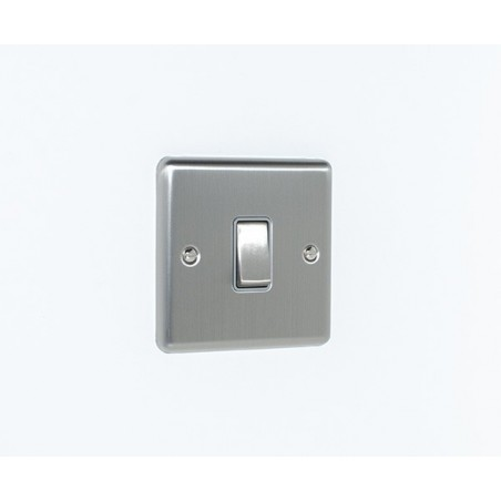 Eurolite EN1SWSSG 10A 1 Gang 2 Way Satin Stainless Steel/Brushed Chrome Enhance Switch