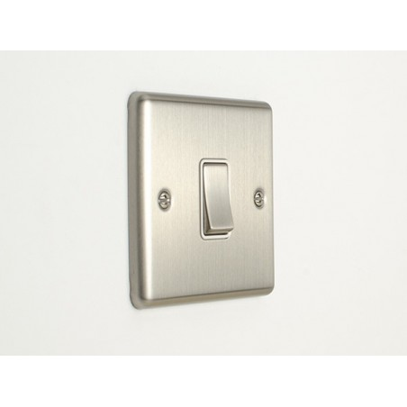 Eurolite EN1SWSSW 10A 1 Gang 2Way Satin Stainless Steel/Brushed Chrome Enhance Switch