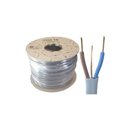 6242YH 2.5mm² Twin and Earth Grey Cable 1m Cut Length
