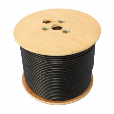 DCS RG6/Twin Twin Black Round Coaxial/TV Cable 100m Drum