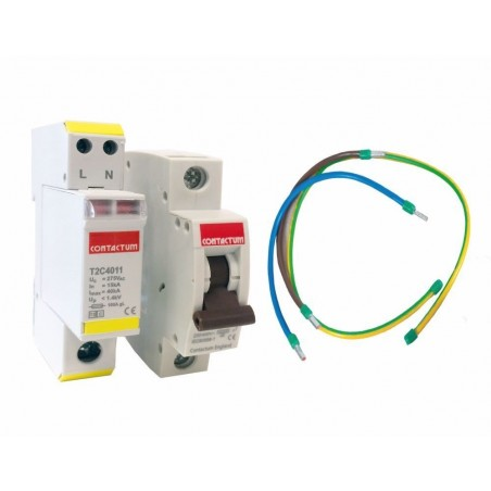 Contactum T2C4011KIT 40kA 1+1 Retro-fit Surge Protection Kit for Defender