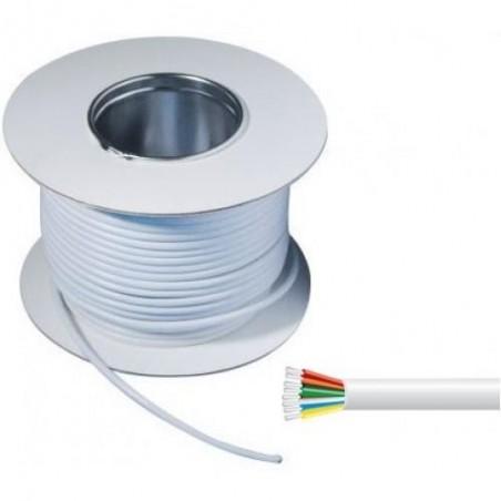8 Core White Alarm Cable 100m Drum