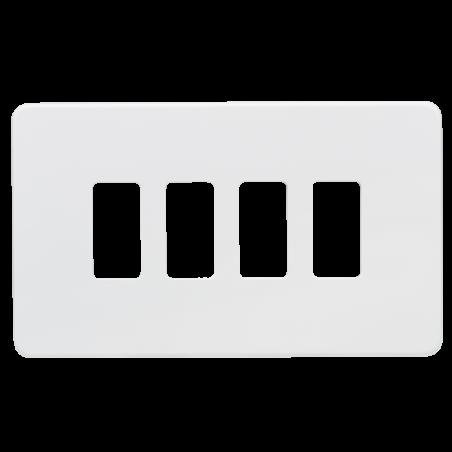 Knightsbridge GDSF004MW Screwless 4G grid faceplate - matt white