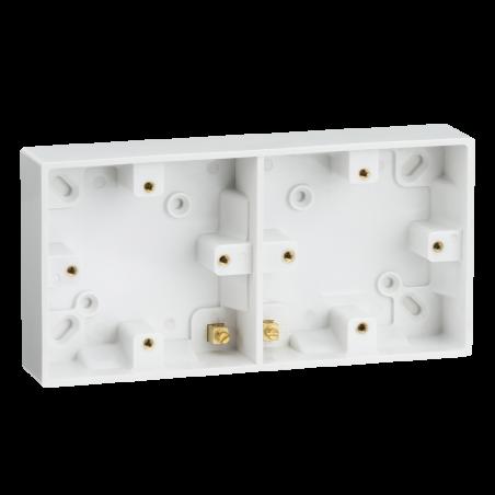 Knightsbridge SN1510 Dual 25mm Pattress Box with Earth Terminal