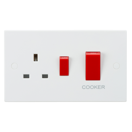 Knightsbridge SN8333 45A DP Cooker Switch and 13A Socket