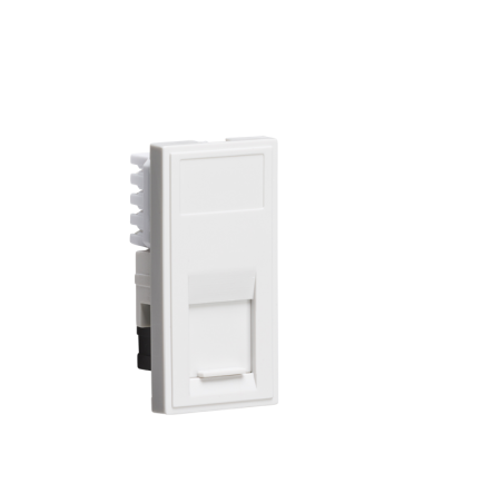 Knightsbridge NETCAT5WH UTP CAT5E RJ45 Outlet Module 25 x 50mm - White