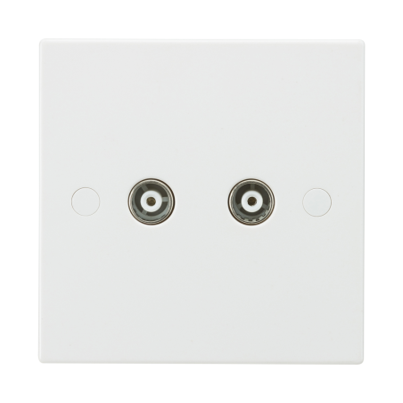 Knightsbridge SN0110 Twin Coax TV Outlet (non-isolated)