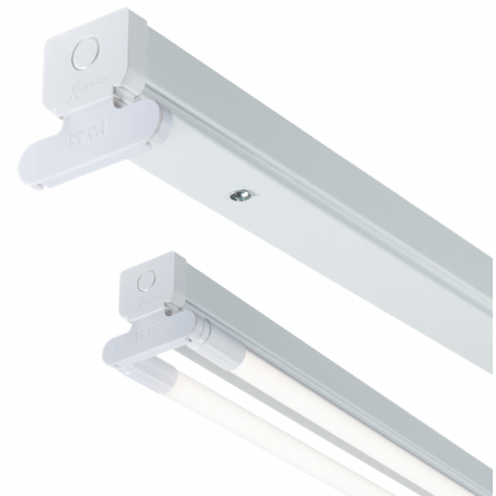 Knightsbridge T8LB26 230V T8 Twin LED-Ready Batten Fitting 1778mm (6ft) (without a ballast or driver)
