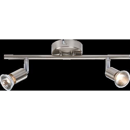 Knightsbridge NSPGU2BC 230V GU10 Twin Bar Spotlight- Brushed Chrome