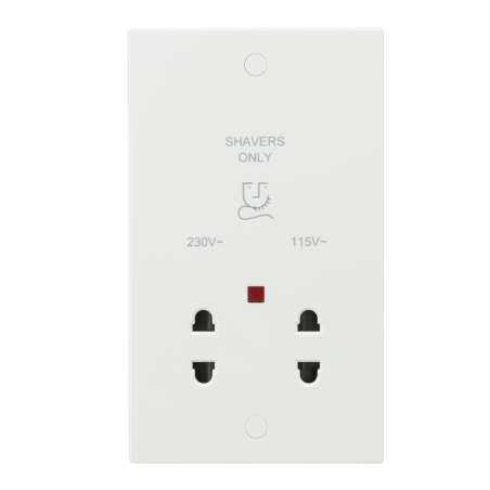Knightsbridge SN8900N 115/230V Dual Voltage Shaver Socket with Neon