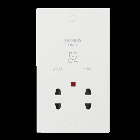 Knightsbridge SN8900N 115/230V Dual Voltage Shaver Socket with Neon
