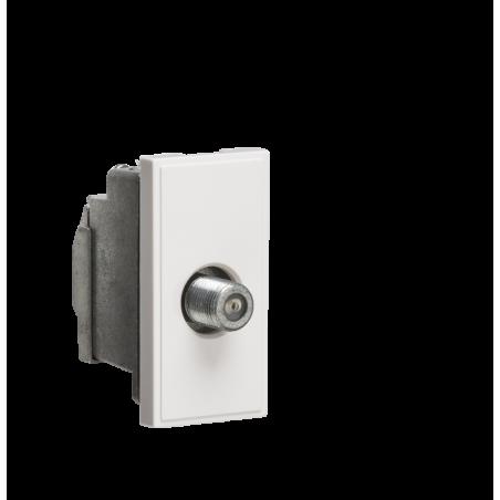 Knightsbridge NETSATSWH Screened SAT TV Outlet Module 25 x 50mm - White
