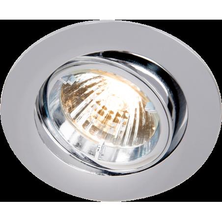 Knightsbridge RD2C IP20 230V GU10 Chrome Recessed Tilt Twist & Lock Downlight