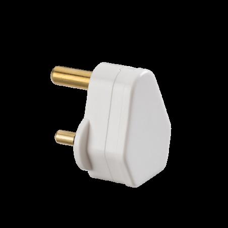 Knightsbridge SN135A 5A Round Pin Plug Top - White (Screw Cord Grip)