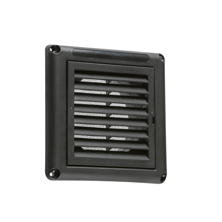 """Knightsbridge EX009B 100MM/4"""" Extractor Fan Grille with Fly Screen - Black"""
