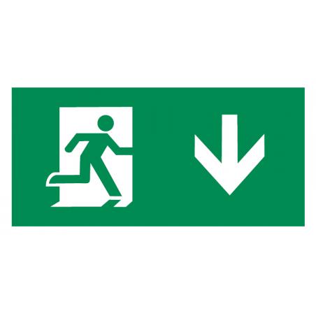 Knightsbridge EMRUND Running Man Legend with Down Facing Arrow for EMRUN