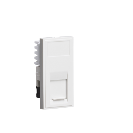 Knightsbridge NETCAT6WH UTP CAT6 RJ45 Outlet Module 25 x 50mm - White