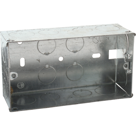 Knightsbridge SG247 2G 47mm Galvanised Steel Box with one adjustable lug and one brass terminal