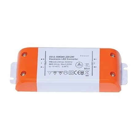 Ansell ADK15W/24V LED Driver - Voltage Current Non-Dimmable 24V 15W