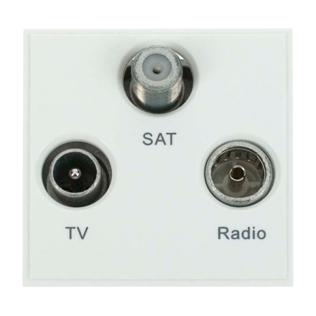 Click MM430WH Socket TV FM Sat White